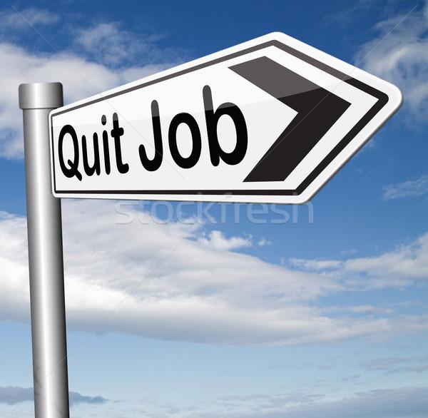 Stock photo: quit job