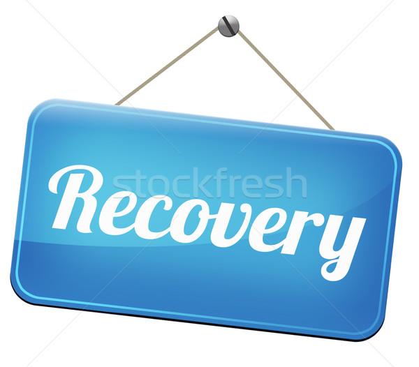 Genezing verloren gegevens crisis recessie weg Stockfoto © kikkerdirk