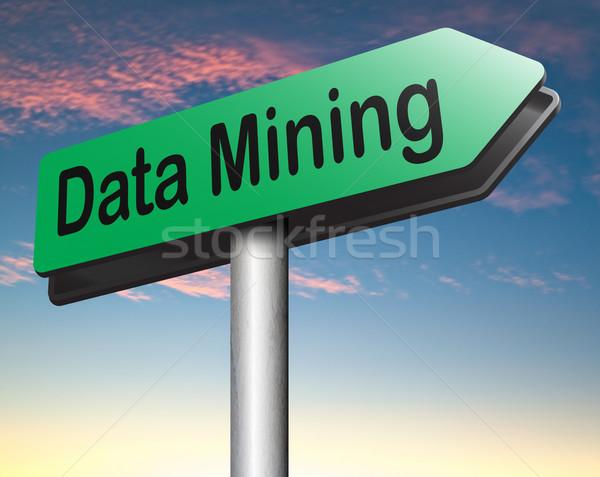 Stock fotó: Adat · bányászat · elemzés · keresés · nagy · információ