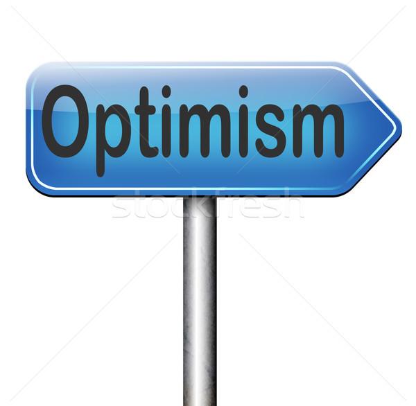 Iyimserlik düşünmek pozitif pozitifliği tutum Stok fotoğraf © kikkerdirk