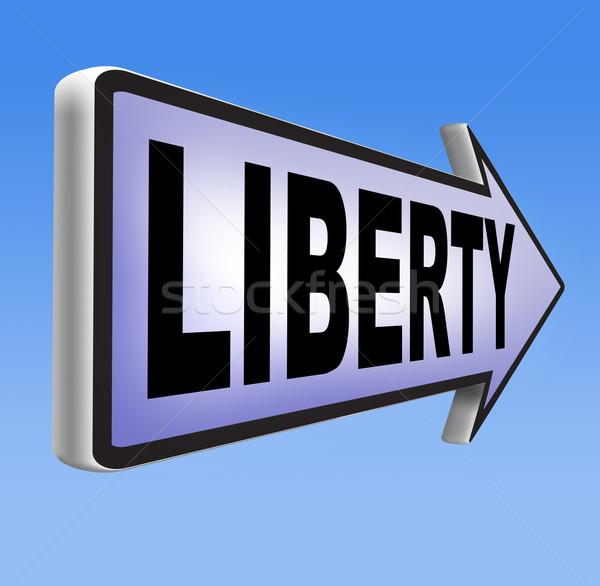 Hörcsög szabadság demokrácia emberi jogok szabad beszéd Stock fotó © kikkerdirk