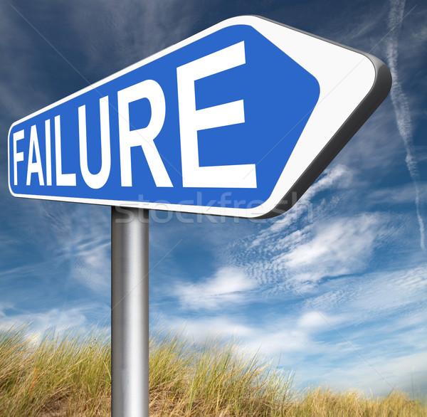 Başarısızlık büyük sınav test diğer Stok fotoğraf © kikkerdirk