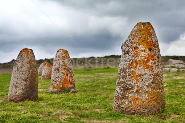 menhir sardinia megalith stone Stock photo © kikkerdirk