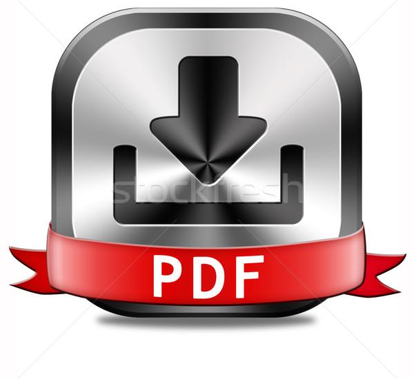 PDF download button Stock photo © kikkerdirk