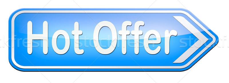 Hot bieden teken online internet web Stockfoto © kikkerdirk