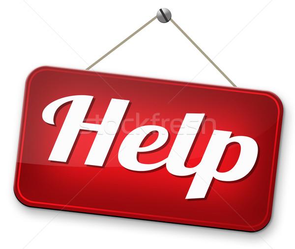 Helpen gezocht geven helpende hand behoefte ondersteuning Stockfoto © kikkerdirk