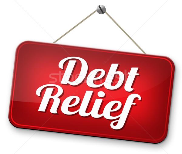 Foto stock: Dívida · alívio · falência · crédito · habitação · bubbles