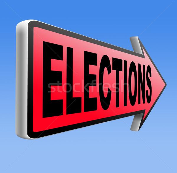 Wybory nowego rząd prezydent wolna wyborów Zdjęcia stock © kikkerdirk