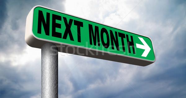 Successivo mese in arrivo futuro agenda tempo Foto d'archivio © kikkerdirk
