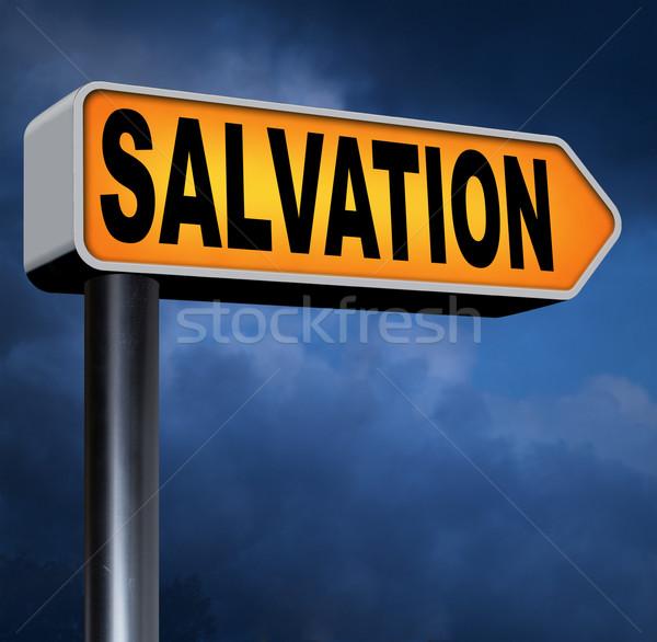 Megváltás bizalom Jézus imádkozik Isten mentés Stock fotó © kikkerdirk