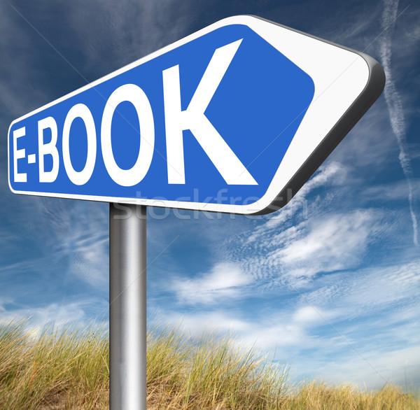 Ebook on-line leitura digital eletrônico Foto stock © kikkerdirk