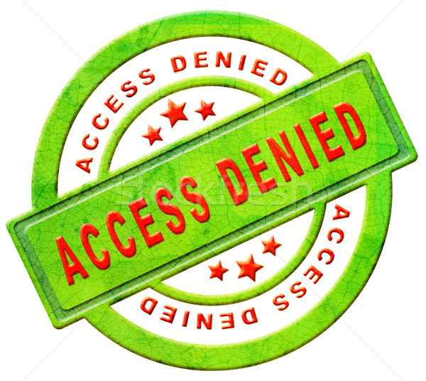 Stock photo: access denied closed
