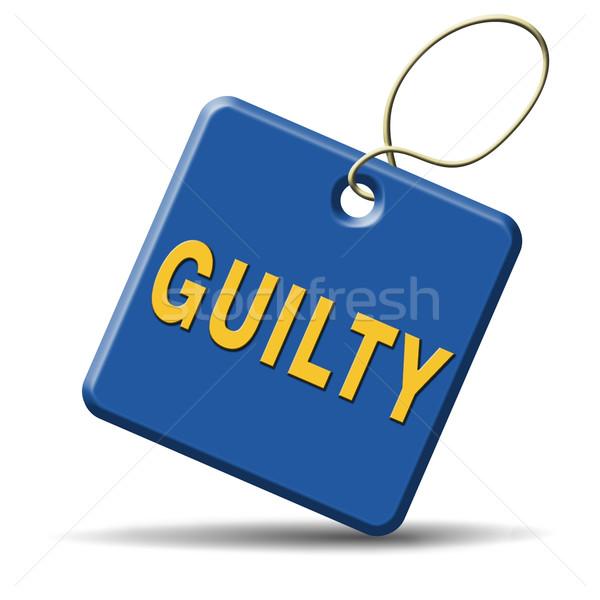 Coupable culpabilité crime tribunal justice cible Photo stock © kikkerdirk