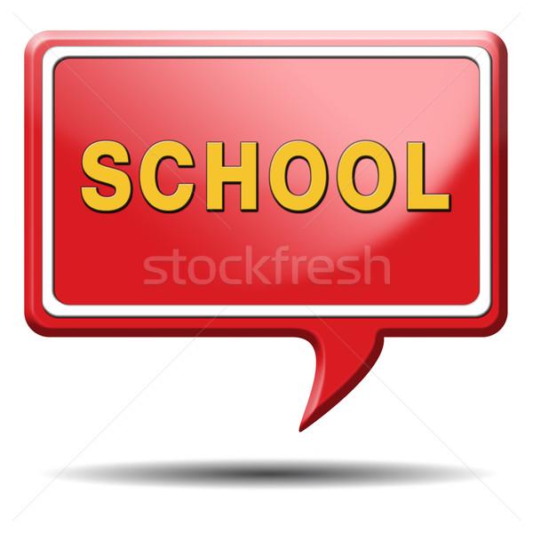 Kolej imzalamak iyi eğitim bilgi öğrenmek Stok fotoğraf © kikkerdirk