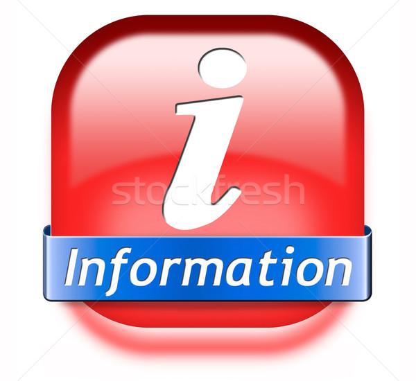 информации кнопки информации икона находить поиск Сток-фото © kikkerdirk