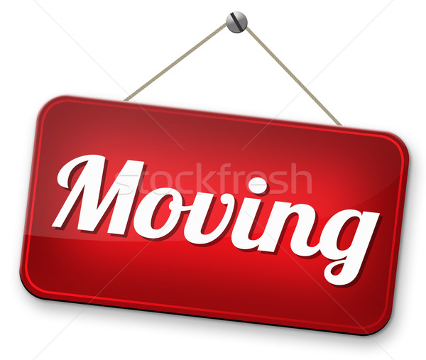 Signo movimiento otro casa ubicación Foto stock © kikkerdirk