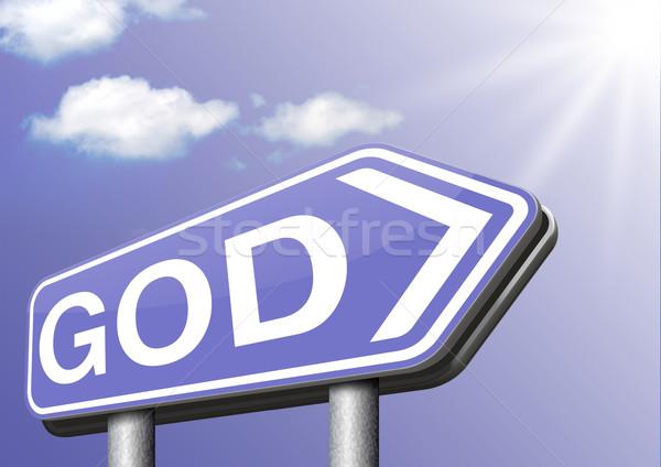 Isten megváltás keresés út menny vallás Stock fotó © kikkerdirk