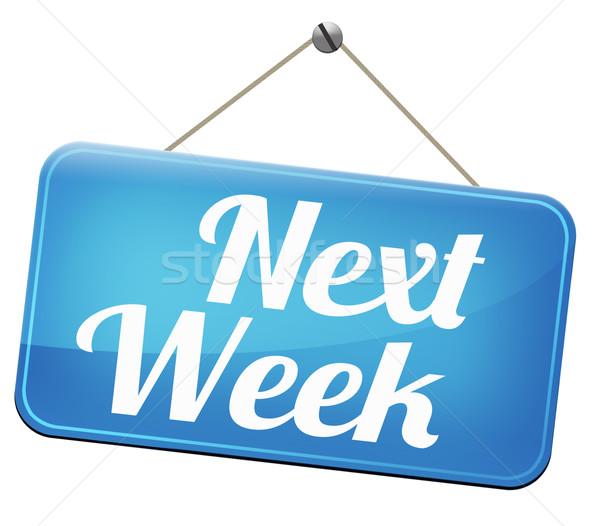 Próximo semana em breve futuro agenda tempo Foto stock © kikkerdirk