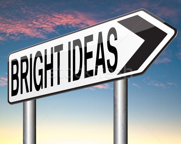 Luminoso idee nuovo brillante innovazione idea Foto d'archivio © kikkerdirk