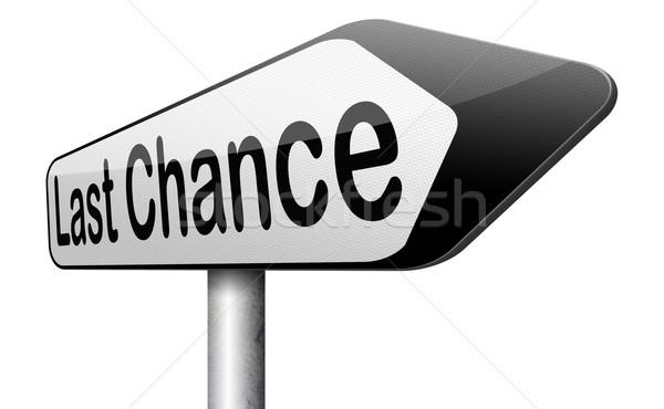 Laatste kans bieden finale waarschuwing gelegenheid Stockfoto © kikkerdirk