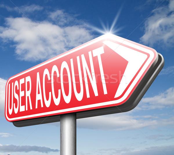 Gebruiker rekening lid registratie navigatie Open Stockfoto © kikkerdirk