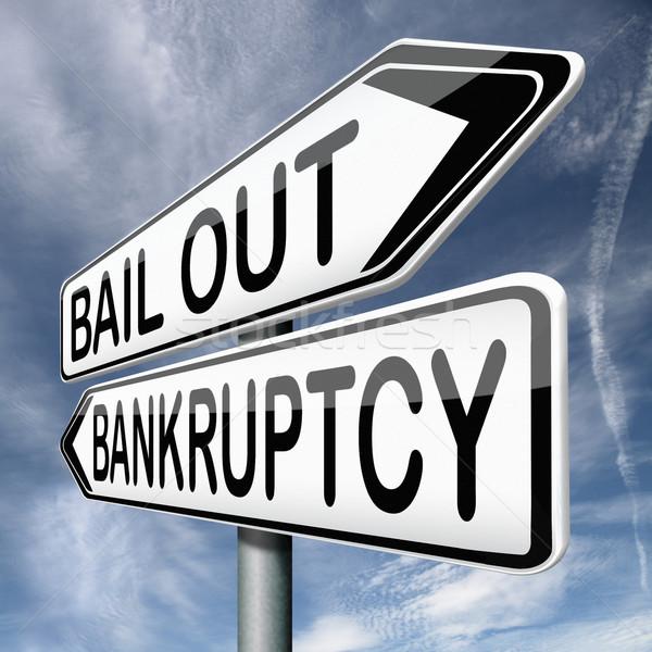 bailout bankruptcy Stock photo © kikkerdirk