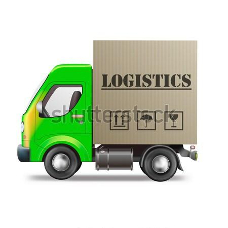 Esportazione camion di consegna in tutto il mondo spedizione esportazione globale Foto d'archivio © kikkerdirk