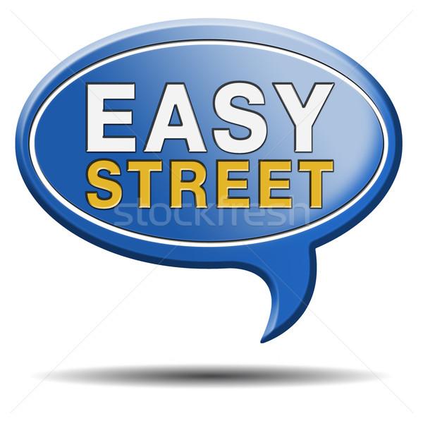 easy street sign Stock photo © kikkerdirk
