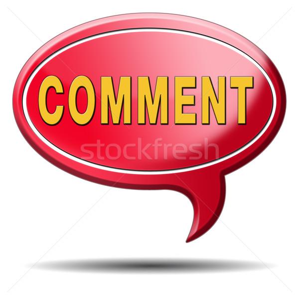 comment icon Stock photo © kikkerdirk