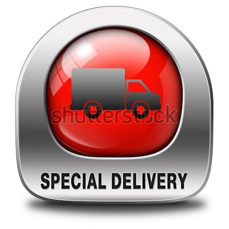Expressz szállítás szállítás online rendelés internet webshop Stock fotó © kikkerdirk