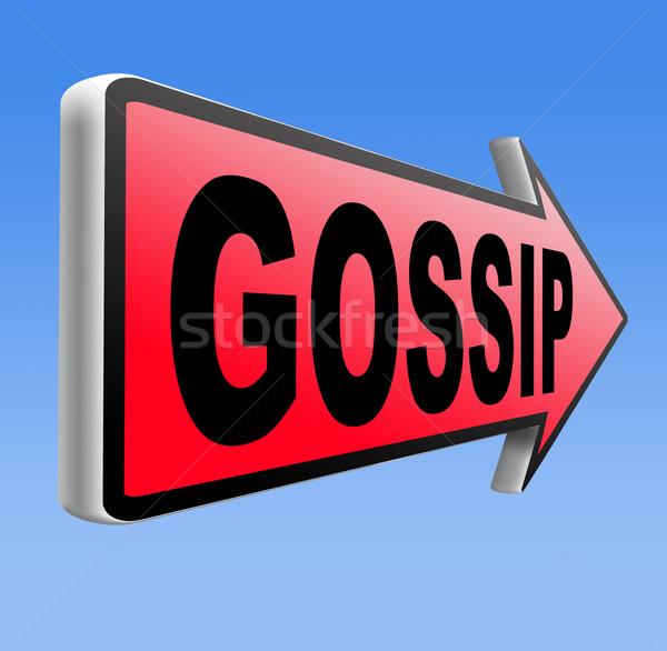 gossip and rumors Stock photo © kikkerdirk