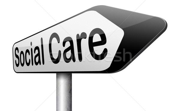 социальной ухода безопасности страхования пенсия инвалидность Сток-фото © kikkerdirk
