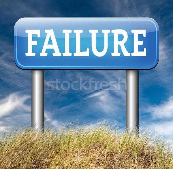 Mislukking examen verkeersbord pijl poging kan Stockfoto © kikkerdirk