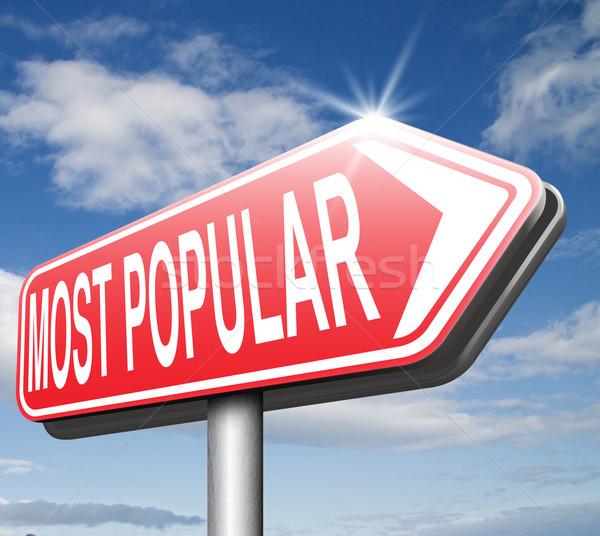 Populair pop charts best verkopen Stockfoto © kikkerdirk