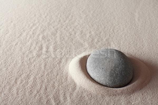 Stock fotó: Zen · meditáció · kő · pihenés · koncentráció · pont