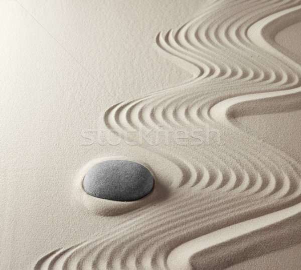 japanese zen garden Stock photo © kikkerdirk
