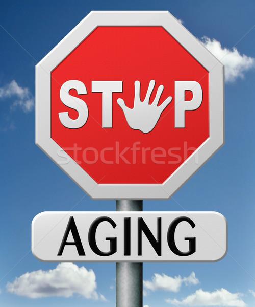 Stop starzenie się pobyt na zawsze patrząc nie Zdjęcia stock © kikkerdirk