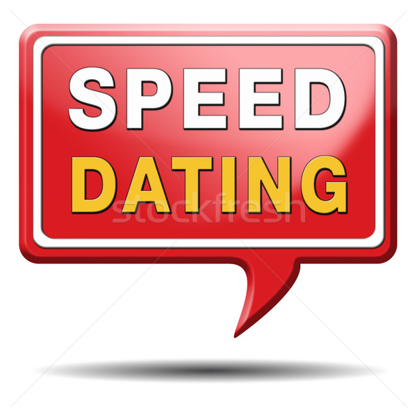 speed dating sign Stock photo © kikkerdirk