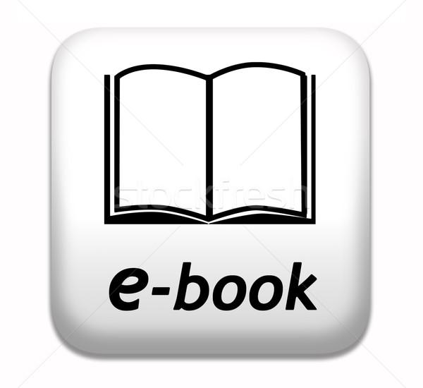 Ebook botão ler on-line eletrônico Foto stock © kikkerdirk