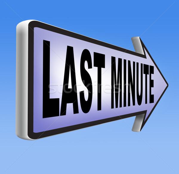 Utolsó perc jegy ajánlat könyv most Stock fotó © kikkerdirk