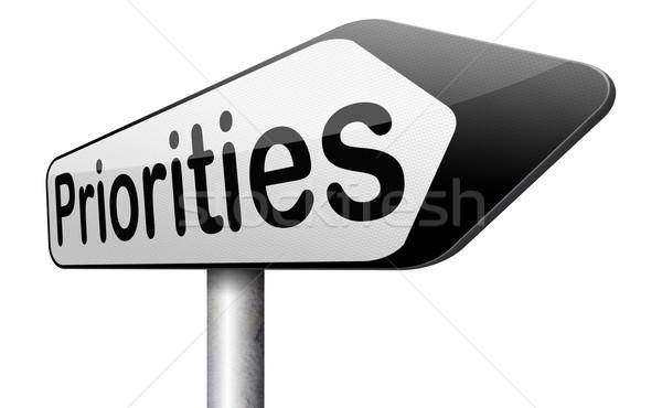 priorities Stock photo © kikkerdirk