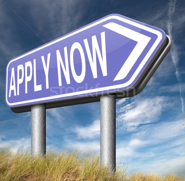 apply here and now Stock photo © kikkerdirk