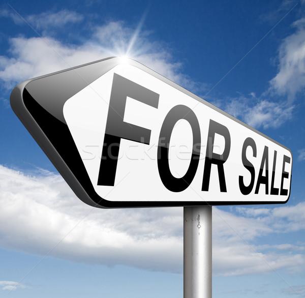 Venda assinar placa sinalizadora compra internet Foto stock © kikkerdirk