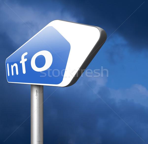 Információ információ jel szalag címke keresés több Stock fotó © kikkerdirk