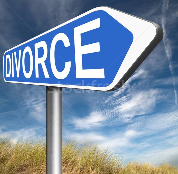 Rozwód kart dokumentu adwokat koniec małżeństwa Zdjęcia stock © kikkerdirk