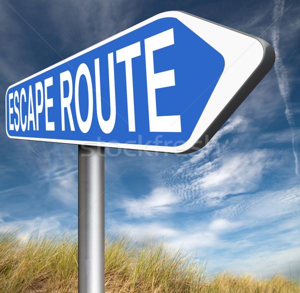 Escapar ruta seguridad estrés romper libre Foto stock © kikkerdirk
