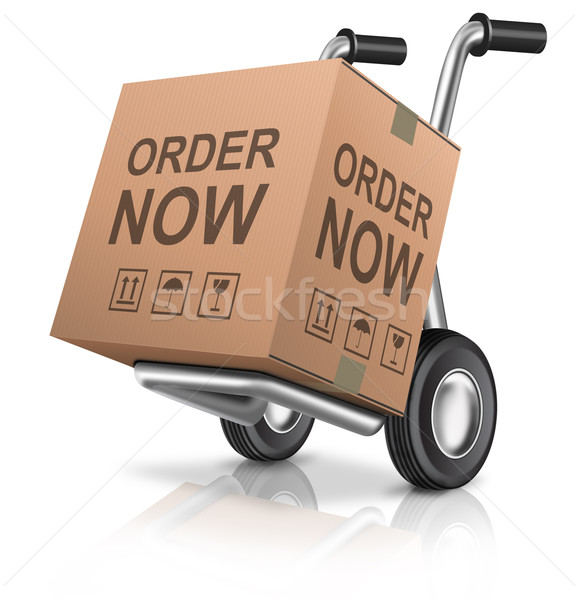 order now webshop icon Stock photo © kikkerdirk