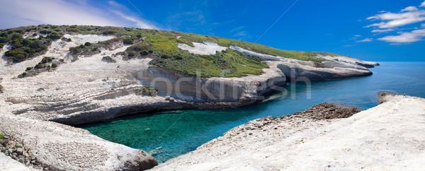 white chalk cliffs eroded coastline Stock photo © kikkerdirk