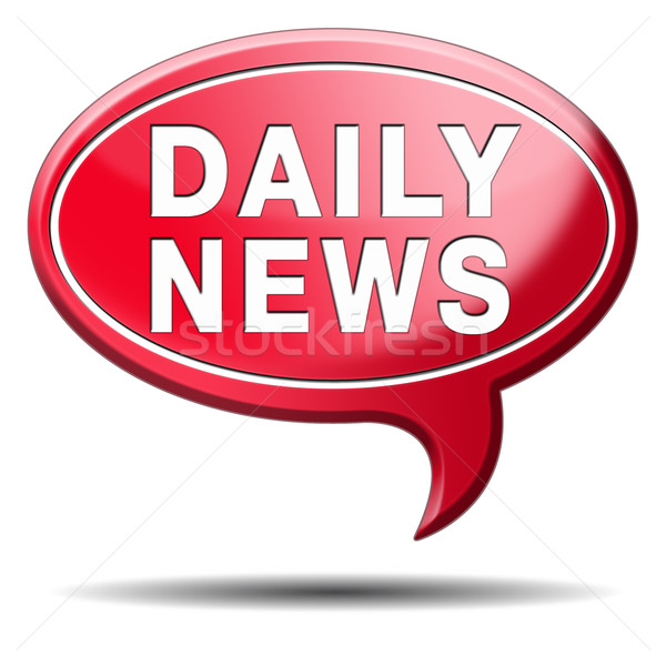 Dagelijks nieuws icon hot druk Stockfoto © kikkerdirk