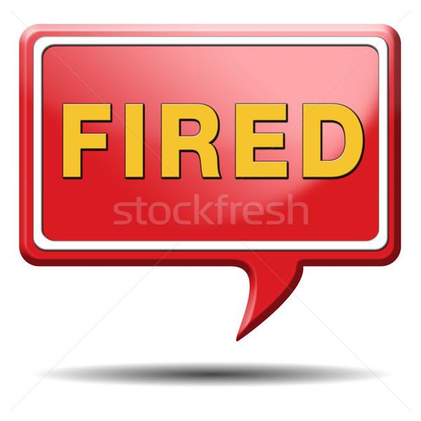 fired icon Stock photo © kikkerdirk